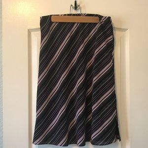 Striped Skirt w/ slits on sides